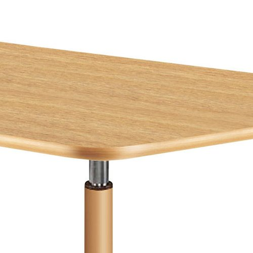 介護テーブル 天板上下昇降式 台形テーブル 4本キャスター脚 UFT-9018C W1800×D780×H596~796(mm)商品画像7