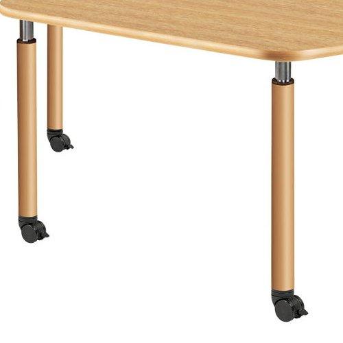 介護テーブル 天板上下昇降式 台形テーブル 4本キャスター脚 UFT-9018C W1800×D780×H596~796(mm)商品画像8