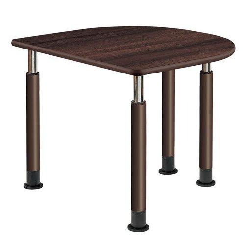 介護テーブル 天板上下昇降式 半楕円形テーブル 4本固定脚 UFT-9080HA W900×D800×H596~796(mm)のメイン画像