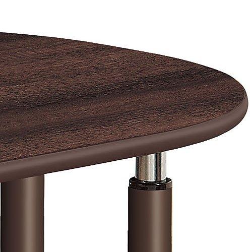 介護テーブル 井上金庫(イノウエ) 天板上下昇降式 半楕円形テーブル 2本キャスター脚・2本固定脚 UFT-9080HB W900×D800×H596~796(mm)商品画像5