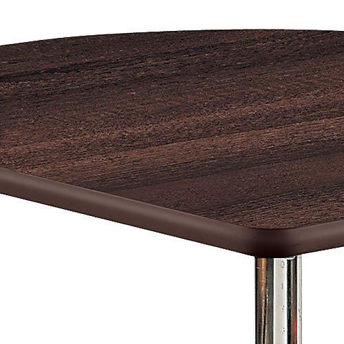 介護テーブル 井上金庫(イノウエ) 天板上下昇降式 半楕円形テーブル 2本キャスター脚・2本固定脚 UFT-9080HB W900×D800×H596~796(mm)商品画像6