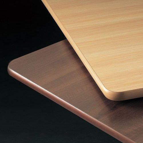 介護テーブル 井上金庫(イノウエ) 天板上下昇降式 半楕円形テーブル 2本キャスター脚・2本固定脚 UFT-9080HB W900×D800×H596~796(mm)商品画像9