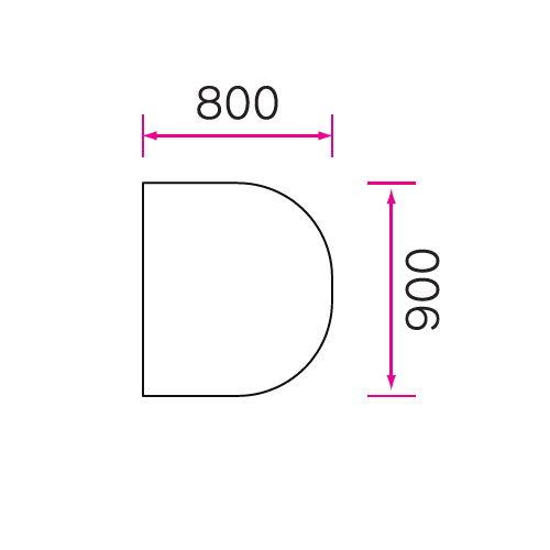 介護テーブル 天板上下昇降式 半楕円形テーブル 4本キャスター脚 UFT-9080HC W900×D800×H596~796(mm)商品画像4