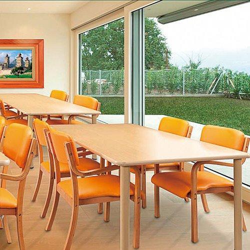 介護テーブル 4本固定脚 UFT-S0909 W900×D900×H700(mm)商品画像5