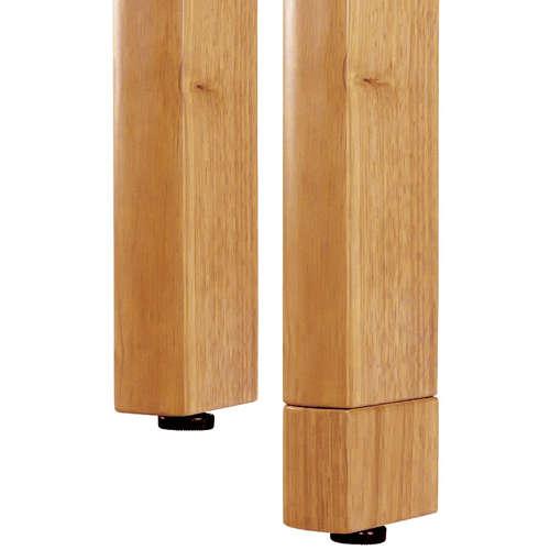 介護テーブル 井上金庫(イノウエ) 4本固定脚 UFT-W0909 W900×D900×H700(mm) 木製テーブル商品画像2