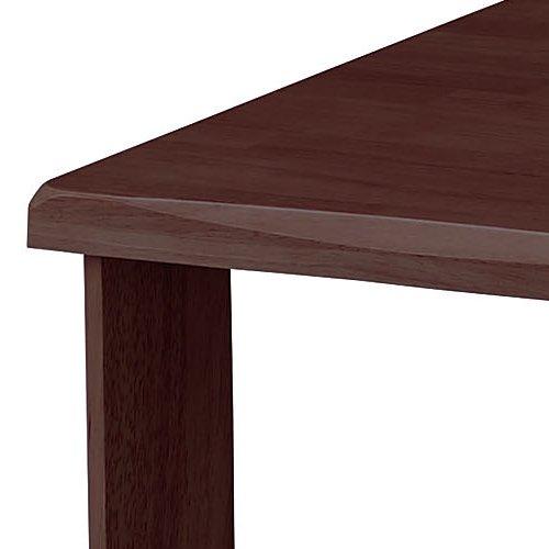 介護テーブル 井上金庫(イノウエ) 4本固定脚 UFT-W0909 W900×D900×H700(mm) 木製テーブル商品画像6