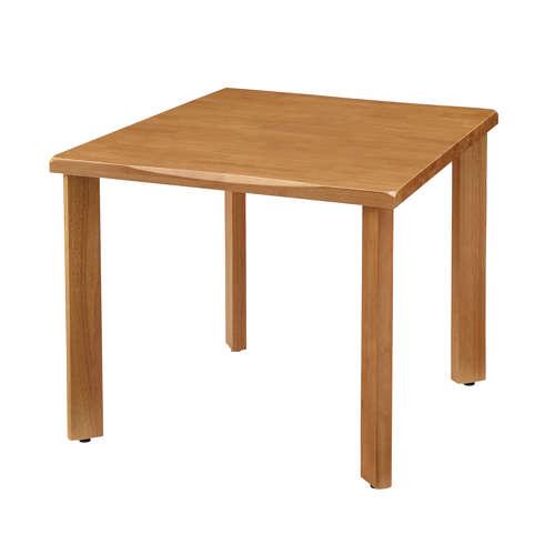 介護テーブル 4本固定脚 UFT-W0909 W900×D900×H700(mm) 木製テーブルのメイン画像