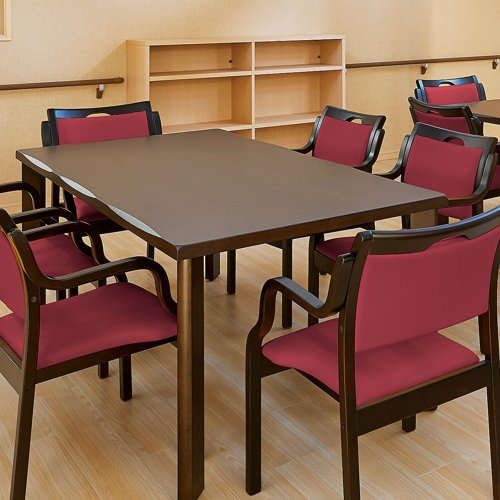 介護テーブル 井上金庫(イノウエ) 4本固定脚 UFT-W1690 W1600×D900×H700(mm) 木製テーブル商品画像9
