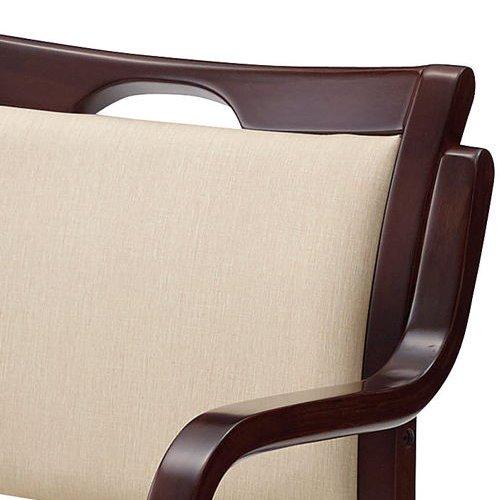 介護椅子 ダークブラウンフレーム 角背 木製チェア 手掛け付き UFW-C6D 肘あり商品画像5
