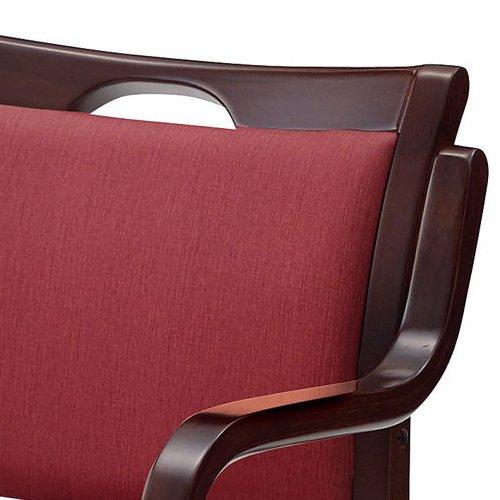 介護椅子 ダークブラウンフレーム 角背 木製チェア 手掛け付き UFW-C6D 肘あり商品画像7