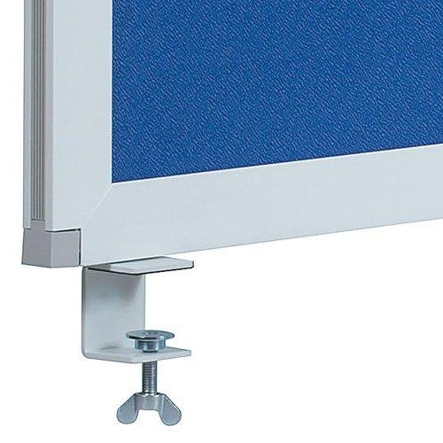 デスクトップパネル クロス仕様 ブルー色 UK-DP1200BL W1200×H350(mm)商品画像5