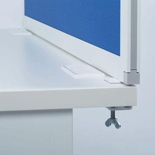 デスクトップパネル クロス仕様 ブルー色 UK-DP1400BL W1400×H350(mm)商品画像3