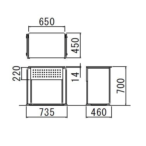 会議用テーブル UNT-6545 W735×D460×H700(mm) 連結脚 スタックテーブル商品画像6