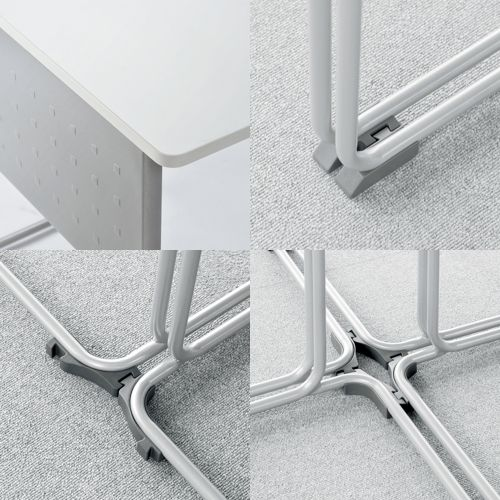 会議用テーブル UNT-6545 W735×D460×H700(mm) 連結脚 スタックテーブル商品画像8