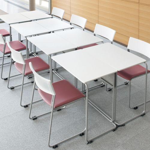 会議用テーブル UNT-6545 W735×D460×H700(mm) 連結脚 スタックテーブル商品画像9