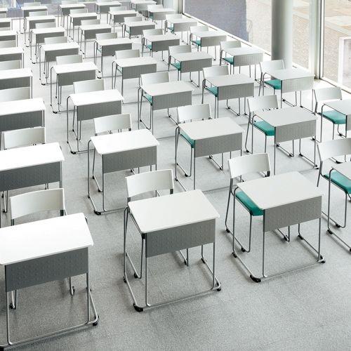 会議用テーブル UNT-6545 W735×D460×H700(mm) 連結脚 スタックテーブル商品画像10