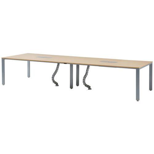 テーブル(会議用) 井上金庫(イノウエ) フリーアドレステーブル 分割天板 UTS-3612 W3600×D1200×H700(mm)のメイン画像