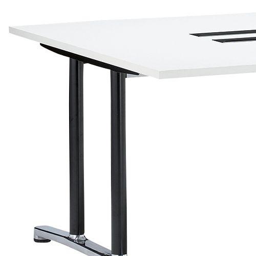 会議用テーブル WAL-1212 W1200×D1200×H700(mm) ブラックカラー&アルミダイキャストベース脚商品画像6