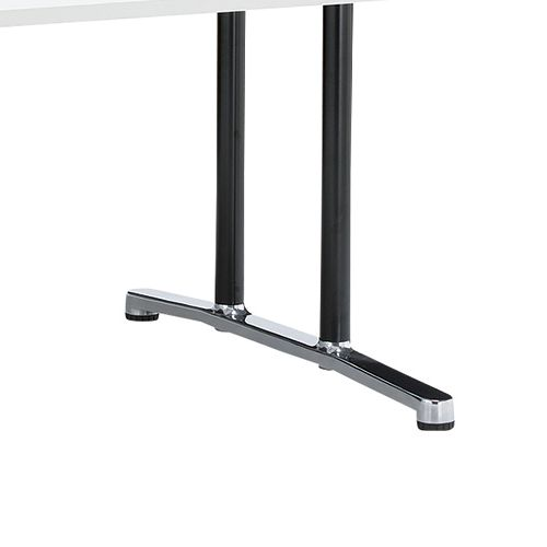会議用テーブル WAL-1212 W1200×D1200×H700(mm) ブラックカラー&アルミダイキャストベース脚商品画像8