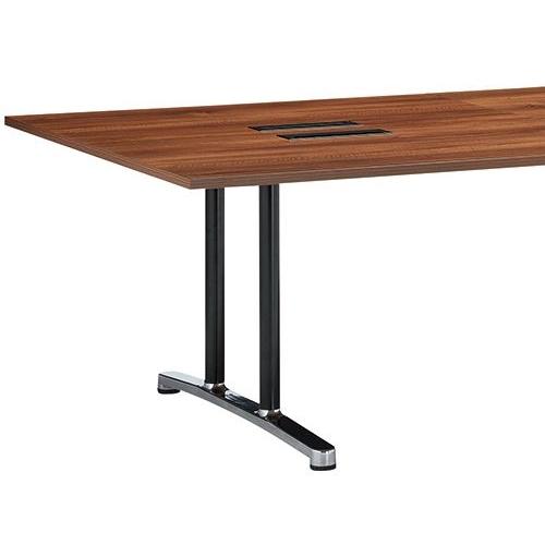 会議用テーブル WAL-2412 W2400×D1200×H700(mm) ブラックカラー&アルミダイキャストベース脚商品画像6