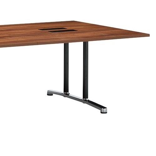 会議用テーブル WAL-2412 W2400×D1200×H700(mm) ブラックカラー&アルミダイキャストベース脚商品画像7