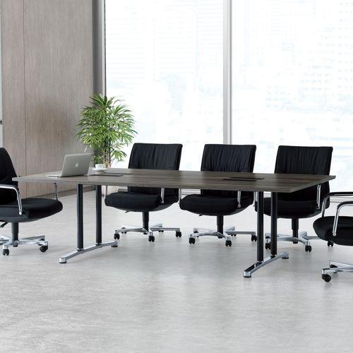 会議用テーブル WAL-2412 W2400×D1200×H700(mm) ブラックカラー&アルミダイキャストベース脚商品画像10