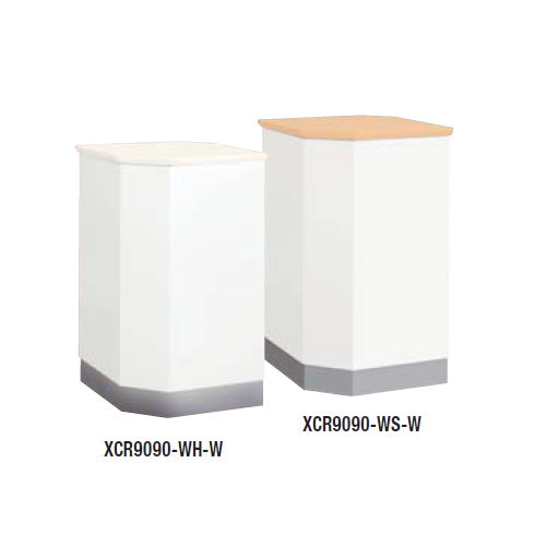 【WEB販売休止中】カウンター 外ハイコーナー90° ナイキ XC型 ハイカウンター XCR9090 W553×D553×H950(mm)のメイン画像
