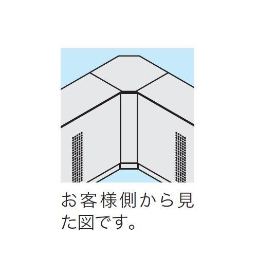 【WEB販売休止中】カウンター 内ハイコーナー90° ナイキ XC型 ハイカウンター XCR9091 W547×D547×H950(mm)商品画像3