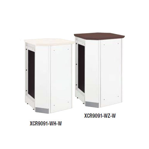 【WEB販売休止中】カウンター 内ハイコーナー90° ナイキ XC型 ハイカウンター XCR9091 W547×D547×H950(mm)のメイン画像