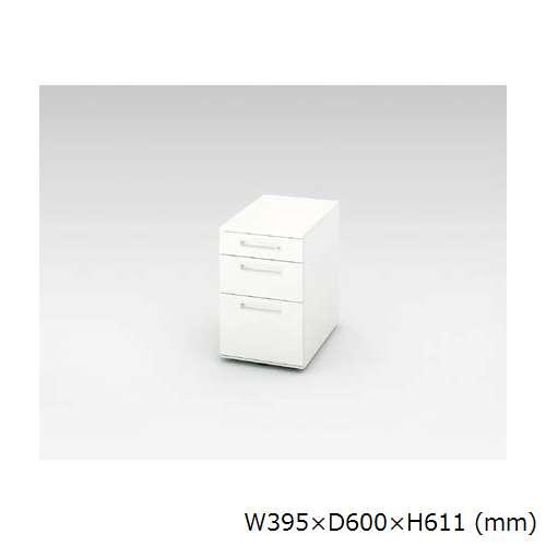 ワゴン 3段 ナイキ XE型 XE046XC-W W395×D600×H611(mm)のメイン画像