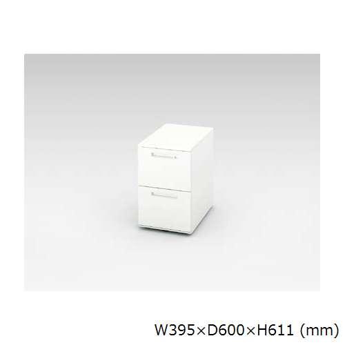 ワゴン 2段 ナイキ XE型 XE046YC-W W395×D600×H611(mm)のメイン画像
