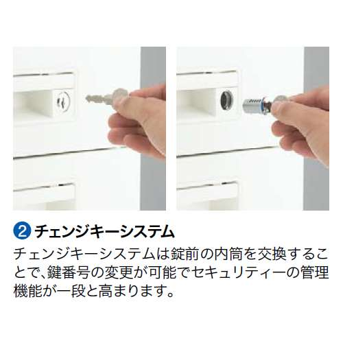 脇デスク ナイキ XED型 XED047A W400×D700×H700(mm) 2段(A4/B4・A4)商品画像8