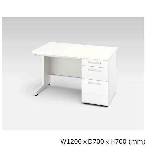 片袖デスク ナイキ XED型 XED127B W1200×D700×H700(mm) 3段(ペントレー/A5/B4・A4)のメイン画像