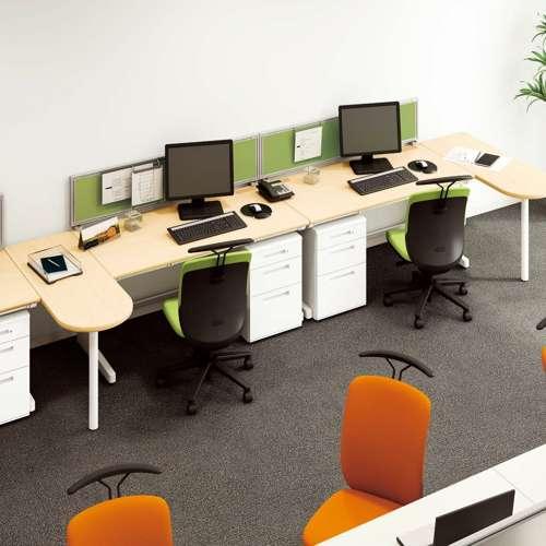 平デスク ナイキ XED型 XED127F W1200×D700×H700(mm) 中央引き出し2本商品画像8