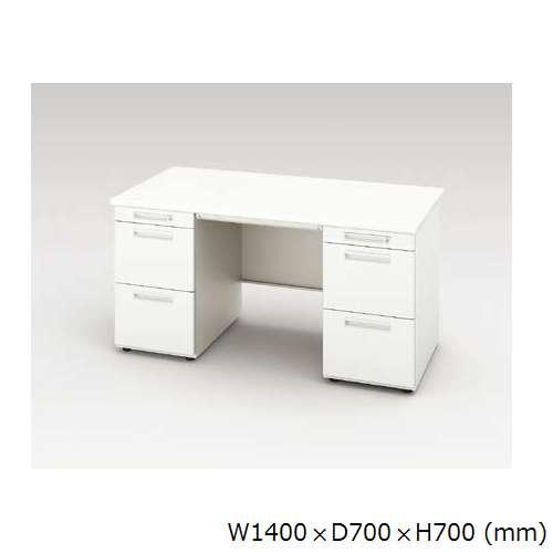 両袖デスク ナイキ XED型 XED147CC W1400×D700×H700(mm) 左袖3段(ペントレー/A4/A4) 右袖3段(ペントレー/A4/A4)のメイン画像