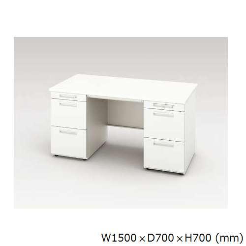 両袖デスク ナイキ XED型 XED157CC W1500×D700×H700(mm) 左袖3段(ペントレー/A4/A4) 右袖3段(ペントレー/A4/A4)のメイン画像