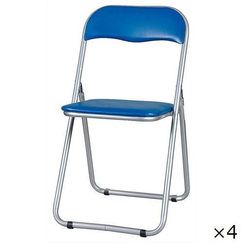 スライド式折りたたみ椅子 井上金庫(イノウエ) YH-31N-4 4脚セット商品画像2