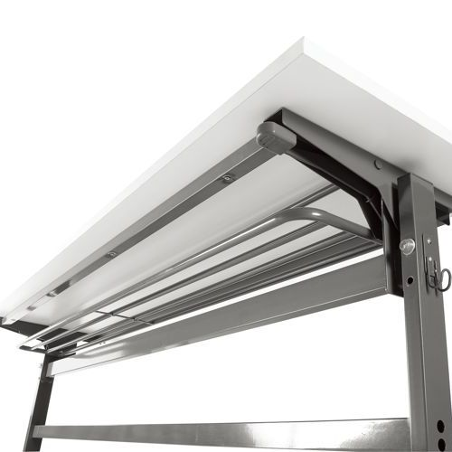 会議用テーブル YST-1845 W1800×D450×H700(mm) サイドスタックテーブル 棚付き商品画像5