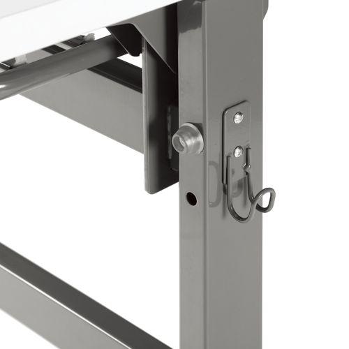 会議用テーブル YST-1845 W1800×D450×H700(mm) サイドスタックテーブル 棚付き商品画像7