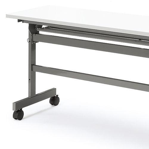 会議用テーブル YST-1845 W1800×D450×H700(mm) サイドスタックテーブル 棚付き商品画像9
