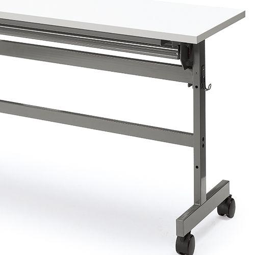 会議用テーブル YST-1845 W1800×D450×H700(mm) サイドスタックテーブル 棚付き商品画像10