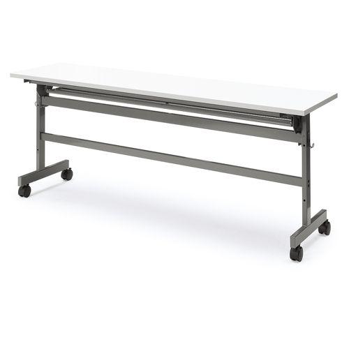 会議用テーブル YST-1845 W1800×D450×H700(mm) サイドスタックテーブル 棚付きのメイン画像