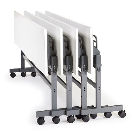 会議用テーブル YST-1860 W1800×D600×H700(mm) サイドスタックテーブル 棚付き商品画像8