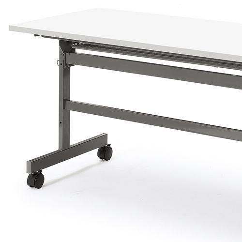 会議用テーブル YST-1860 W1800×D600×H700(mm) サイドスタックテーブル 棚付き商品画像9