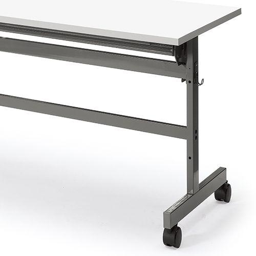 会議用テーブル YST-1860 W1800×D600×H700(mm) サイドスタックテーブル 棚付き商品画像10