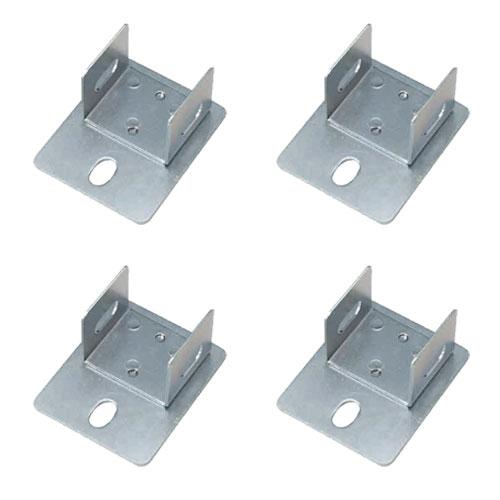 耐震防止金具(床固定金具) アンカーベースプレート 中量スチール棚用