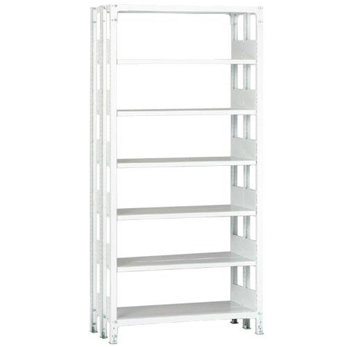 ホワイトラックKU軽量書棚 複式タイプ 100kg/段の画像