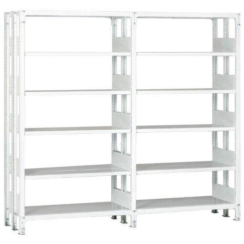 ホワイトラックKU軽量書棚 複式 2連結棚 H2250mm 100kg/段の画像