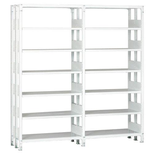 ホワイトラックKU軽量書棚 複式 2連結棚 H2600mm 100kg/段の画像