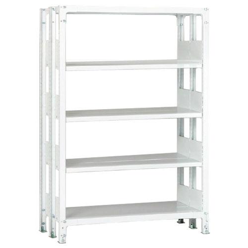 ホワイトラックKU軽量書棚 複式 単体棚 H1950mm 100kg/段の画像